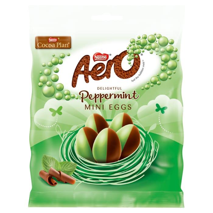 Aero Peppemint Milk Chocolate Mini Eggs 70G