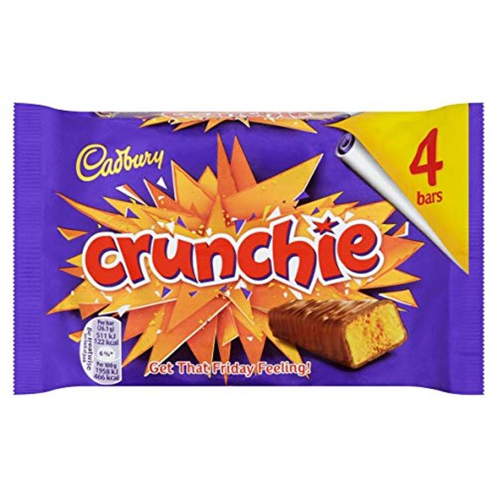 Cadbury Crunchie Chocolate Bar, 4x26.1g at Amazon