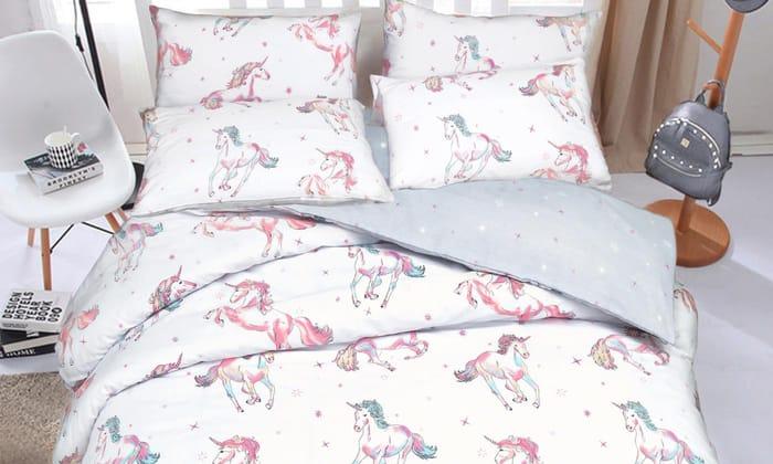 Pieridae Unicorn Reversible Duvet Set