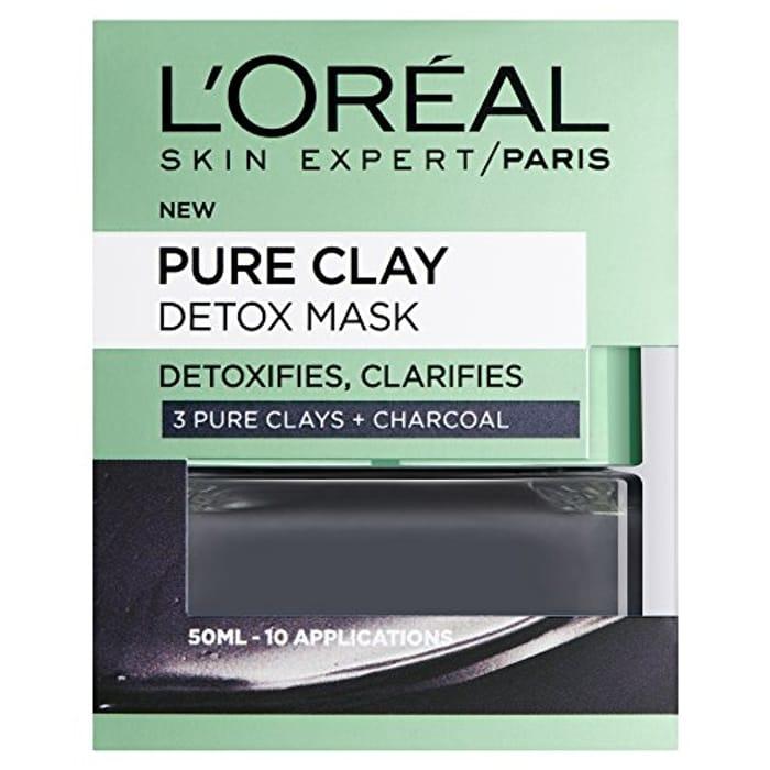L'Oreal Paris, Face Mask, Pure Clay Charcoal Detox Clay Mask