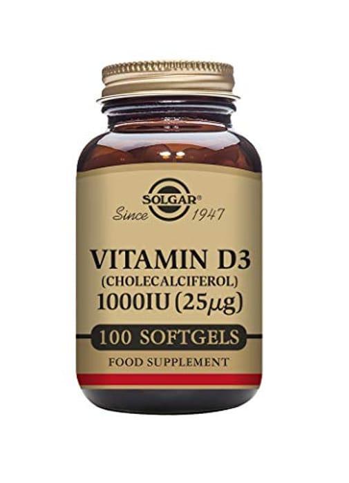 Solgar Vitamin D3 1000 IU (25 G) Softgels - Pack of 100