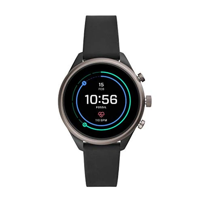 Fossil Womens Smartwatch with Silicone Strap