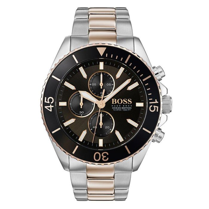 BOSS Ocean Edition GQ Steel and Rose Gold Plated Chronograph Men's Watch