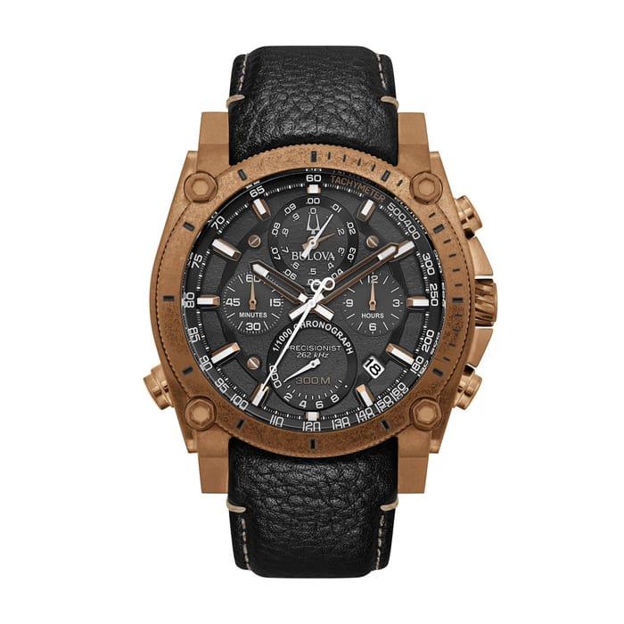 Bulova Precisionist Bronze IP Chronograph Mens Watch