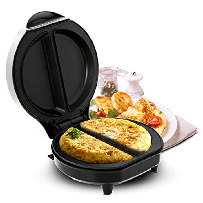 Geepas 700W Omelette Maker Cooker with Non-Stick Plate- 2 Year Warranty