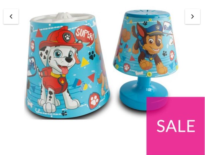 Paw Patrol Lamp and Shade Set - Save £5
