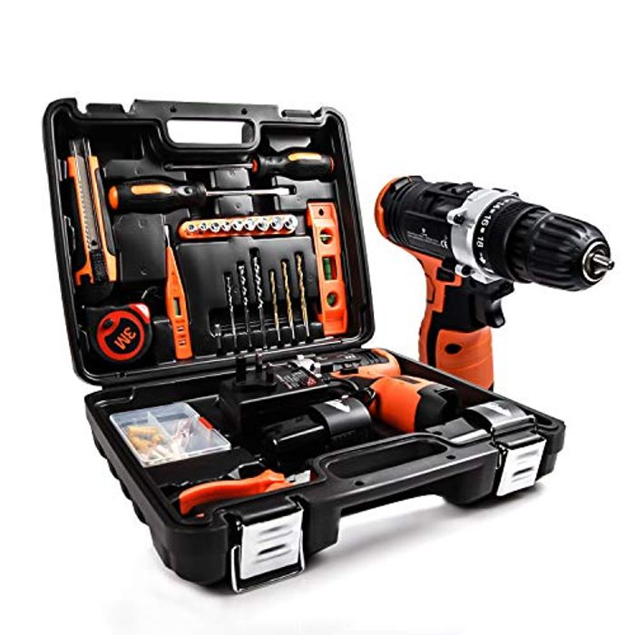 LETTON Drill Set Power Tool Kit with 14.4V Li-Ion Rechargeable Cordless Drill