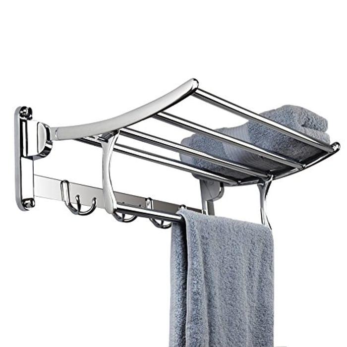 Candora Stainless Steel Wall Mounted Bathroom Towel Rack