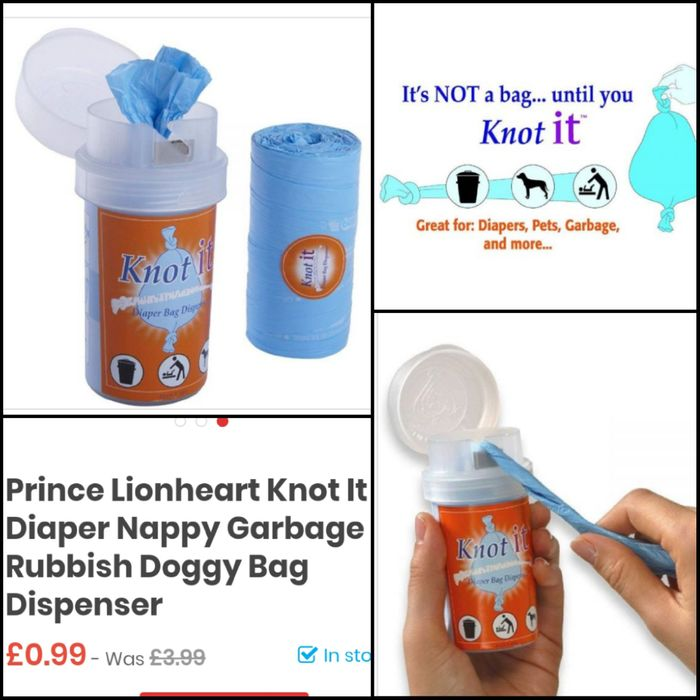 Prince Lionheart Knot It Diaper Nappy Garbage Rubbish Doggy Bag Dispenser