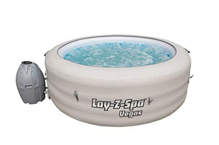 Best Price! Lay-Z-Spa Vegas Hot Tub Inflatable Spa, 4-6 Person at Amazon