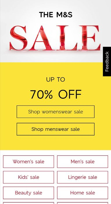 UP to 70% off the M&S Sale