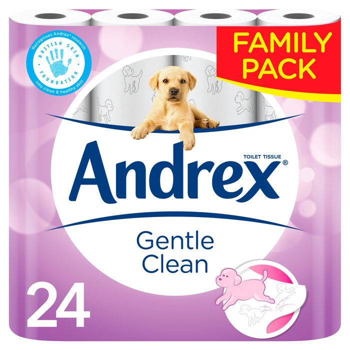 Andrex Toilet Tissue Gentle Clean 11%off at TESCO