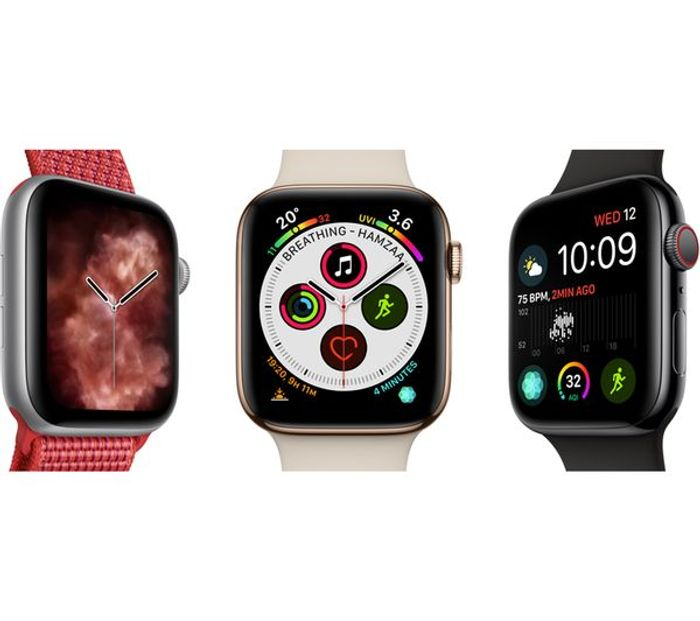 *SAVE £140* APPLE Watch Series 4 Cellular - Silver & White Sports Band, 44 Mm