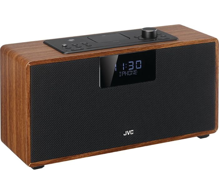 *SAVE £55* JVC Bluetooth All-in-One Hi-Fi System With DAB Radio - Walnut