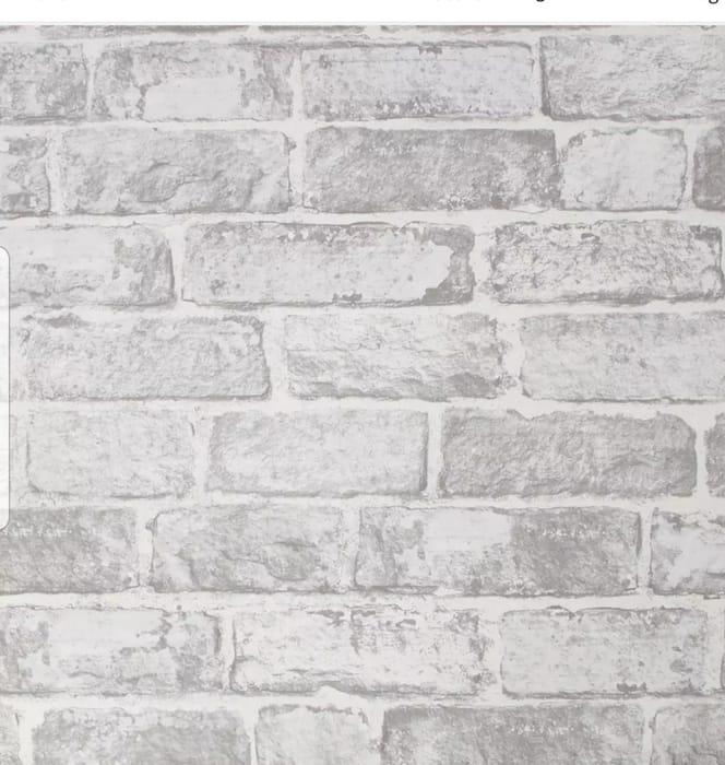 Fresco - House Brick White Wallpaper