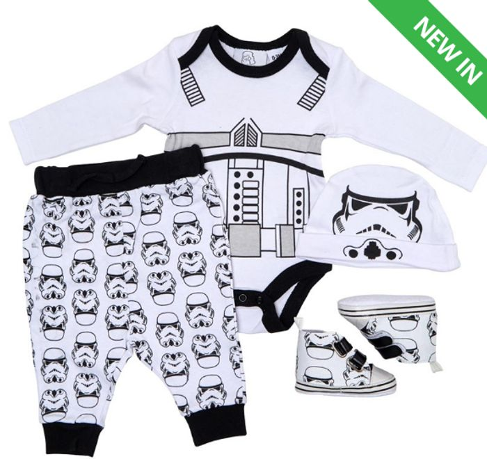 Storm Trooper Baby Boys Four Piece Multipack Black