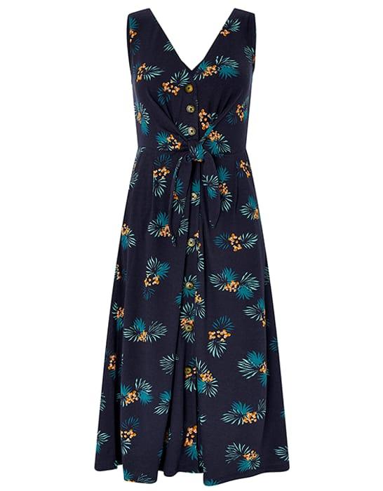 Laticia Print Tie Front Dress BIG 70% Saving