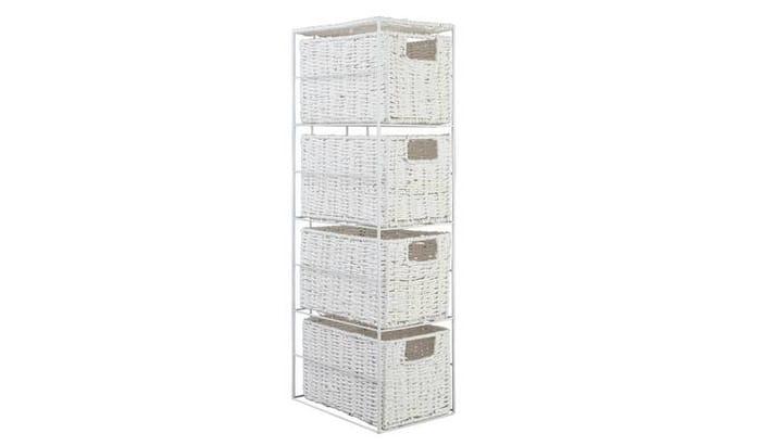 Argos Home Slimline 4 Drawer Storage Tower - White