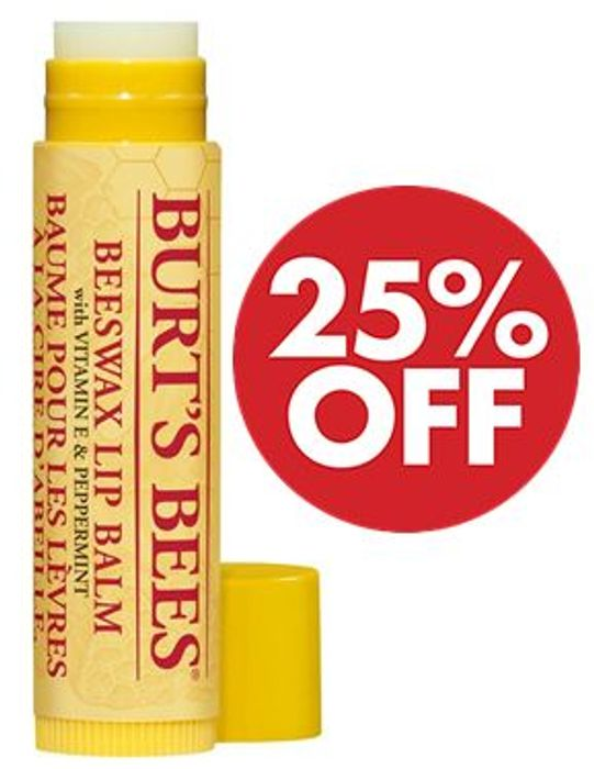 Cheap Burt's Bees Beeswax Lip Balm with Vitamin E & Peppermint Only £2.99