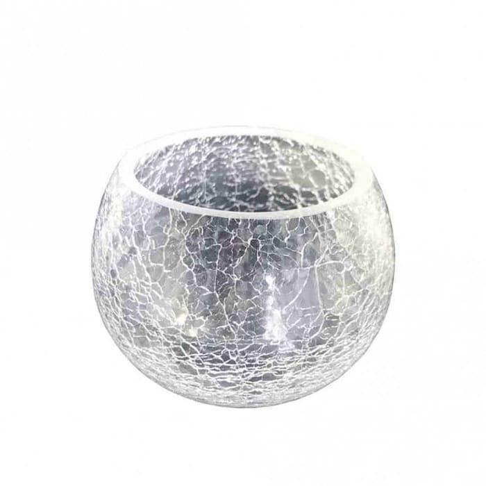 Crackle Glass Tealight Holder