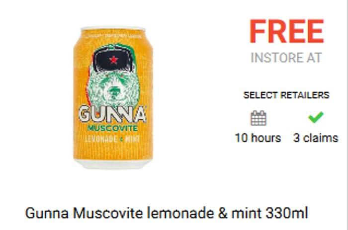 Free Gunna Muscovite Lemonade & Mint 330ml
