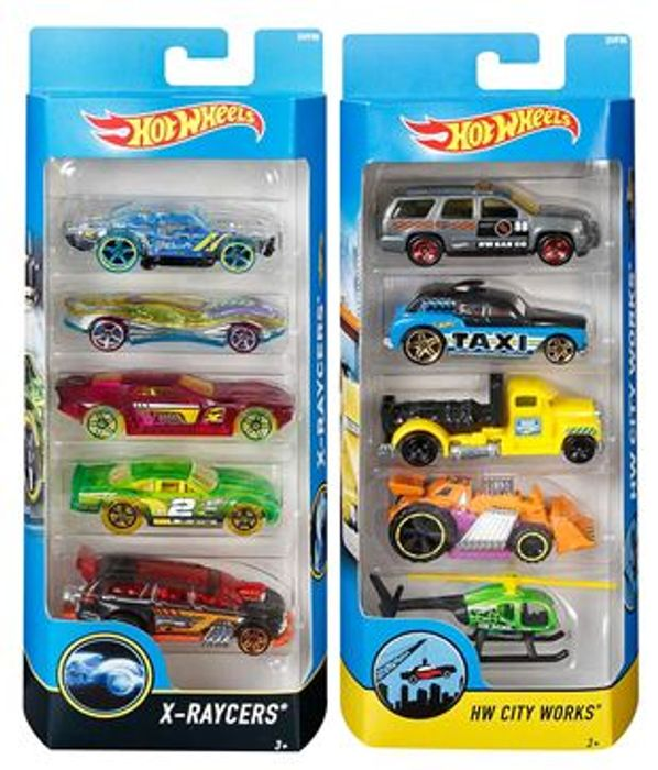 Hot Wheels Diecast Cars (Assorted Models), Pack of 5