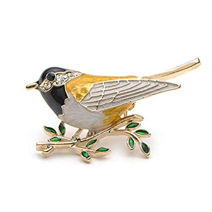 Best Price! Lovely Crystal Swallow Animal Brooch with FREE DELIVERY