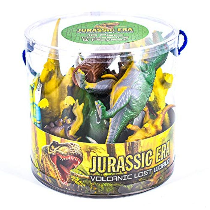 18 Piece Dinosaurs Play Set in Tub
