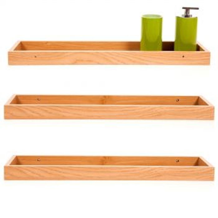 Cheap Form Oak Floating Storage Shelves 3 Pack 60x15CM on Sale From £36 to £7.99