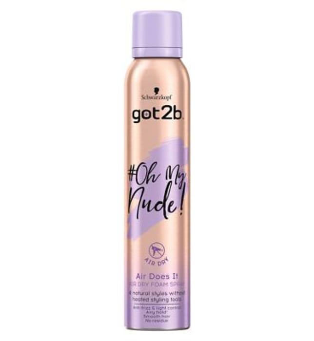Schwarzkopf Got2b Oh My Nude Air Does It Foam Spray Mousse 200ml