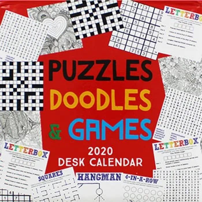 Puzzles Doodles and Games 2020 Desk Calendar