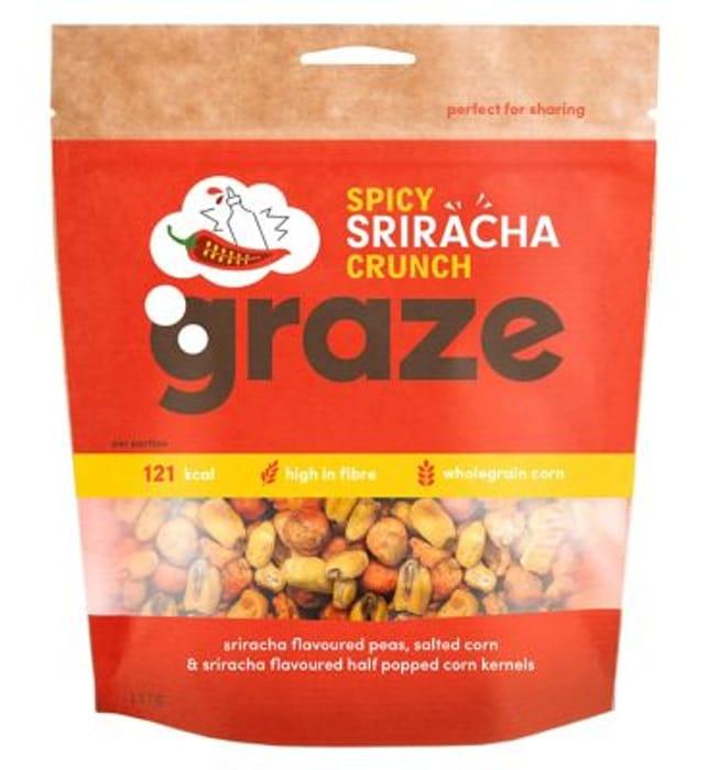 Graze Spicy Sriracha Crunch - 111g at Boots