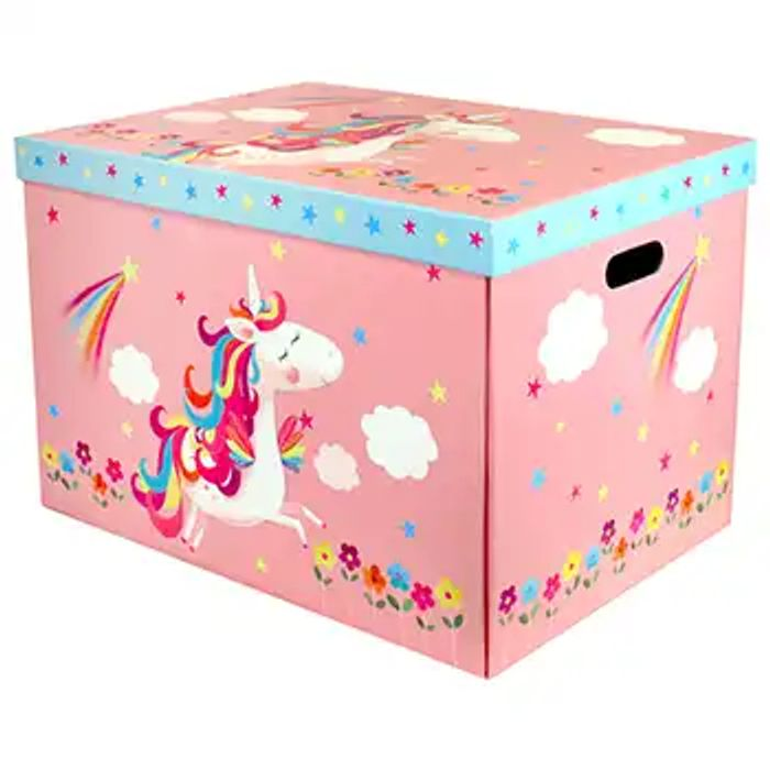 Cheap Unicorn Jumbo Magnetic Collapsible Toy Box, Only £10!