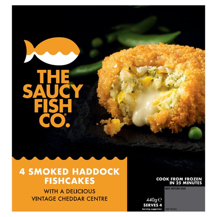 The Saucy Fish Co 4 Smoked Haddock Fishcakes