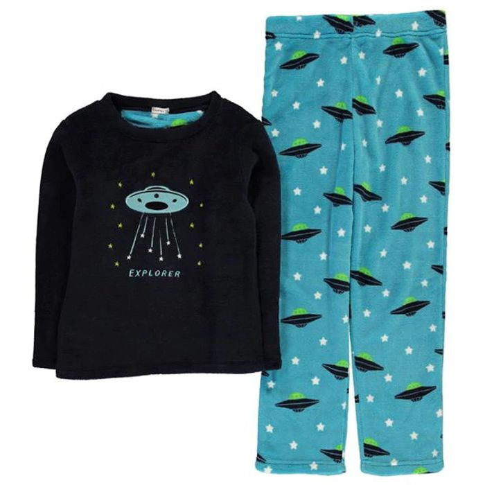 CRAFTED ESSENTIALS Cuddle Fleece Pyjamas Junior