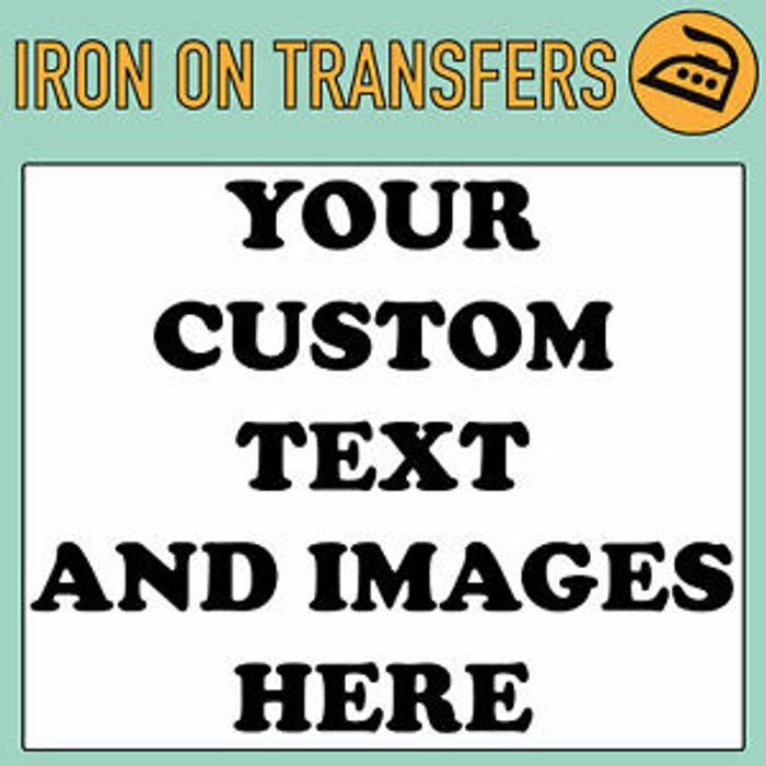 Custom Iron on T Shirt Transfer Personalised Text Quality Prints Your Name Image