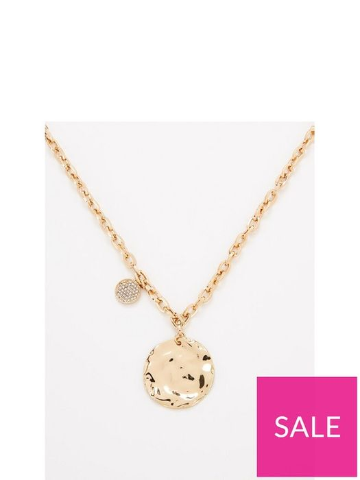 V by Very Disc Chain Necklace - Gold £10