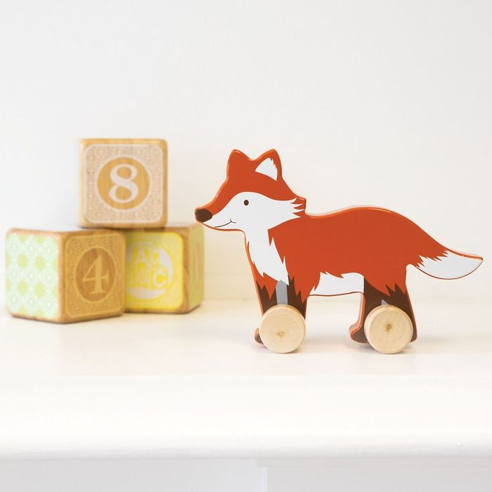 Wooden Fox Push-along Toy - Only £2!