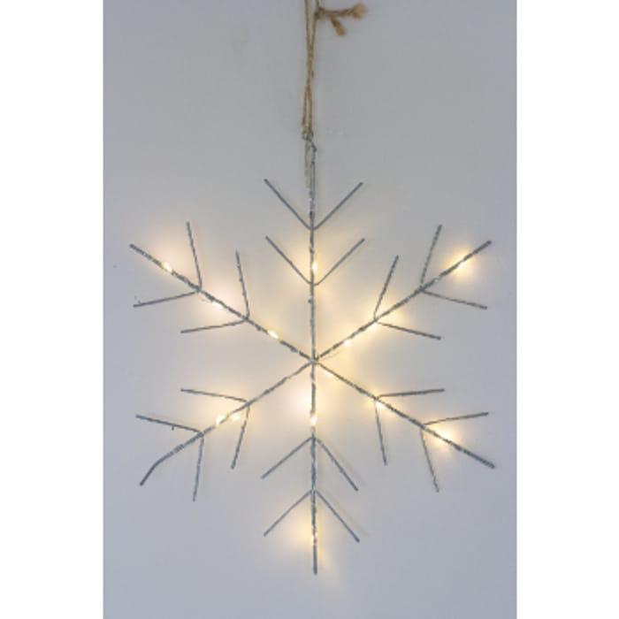 Large Silver Snow Illuminated LED Flake Light