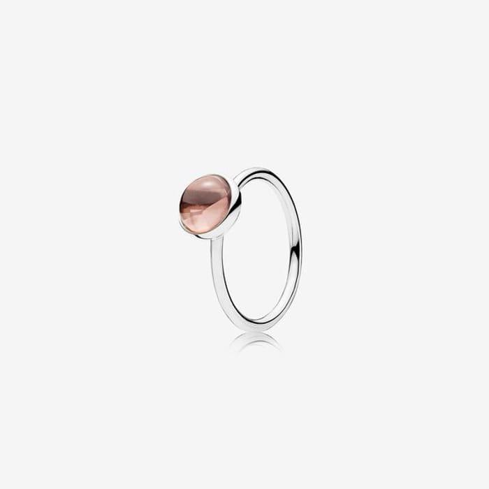 Blush Pink Poetic Droplet Ring - FREE C&C