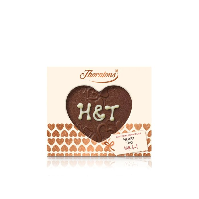 Personalised Milk Chocolate Heart Tag (20g) HALF PRICE