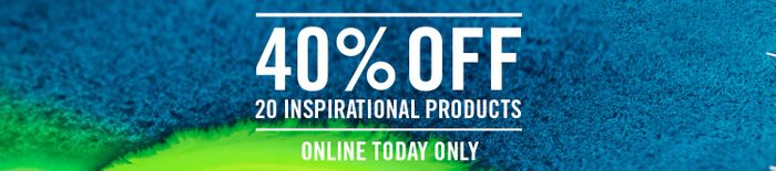 40% off 20 Inspirational Products