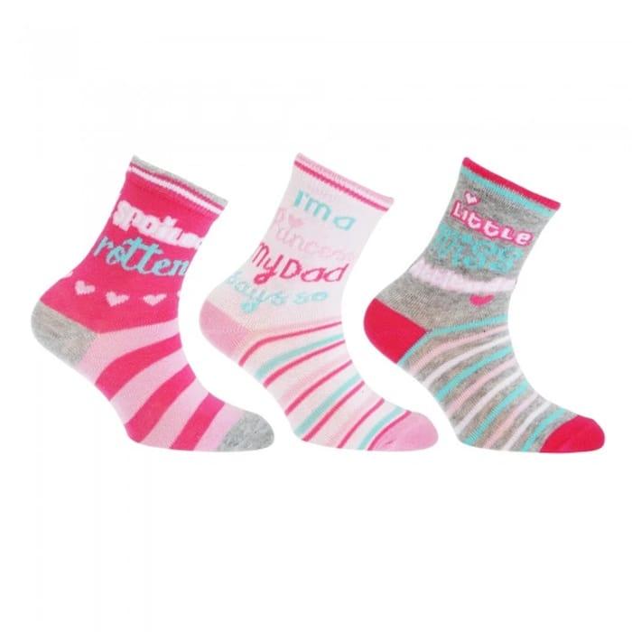 3 Pairs Girls Cotton Socks