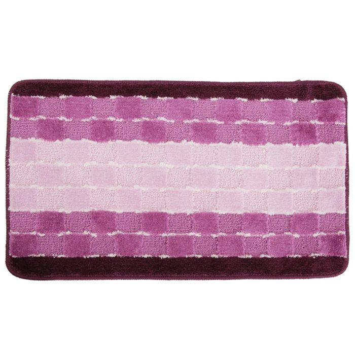 Chequered Stripe Design Door Mat in 6 Colours
