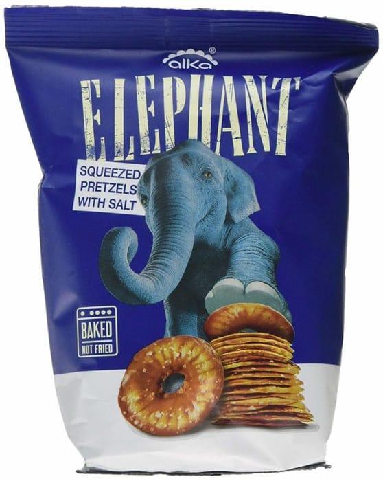 Elephant Squeezed Pretzels with Salt 80g