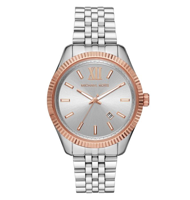 Michael Kors Lexington Steel and Rose Gold Plated Men's Watch