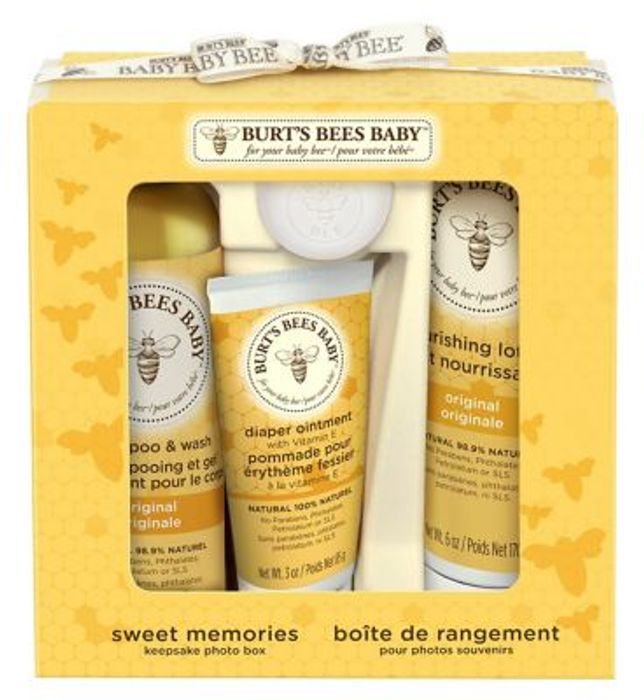 Burt's Bees Baby Bee Sweet Memories Gift Set with Keepsake Photo Box - 25% Off!