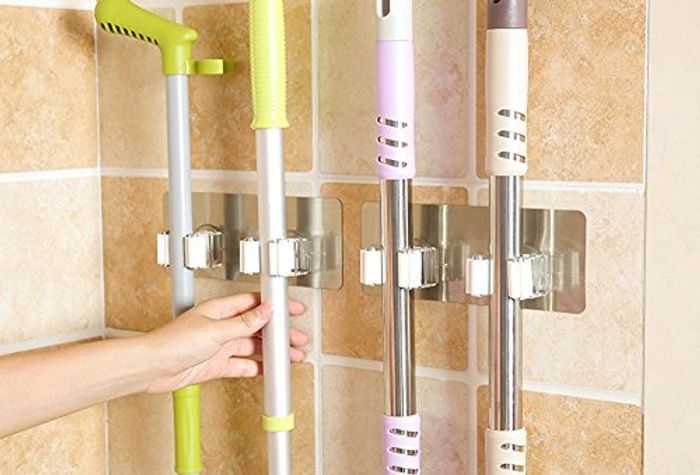 Wall Mounted Mop Holder 80% off + Free Delivery