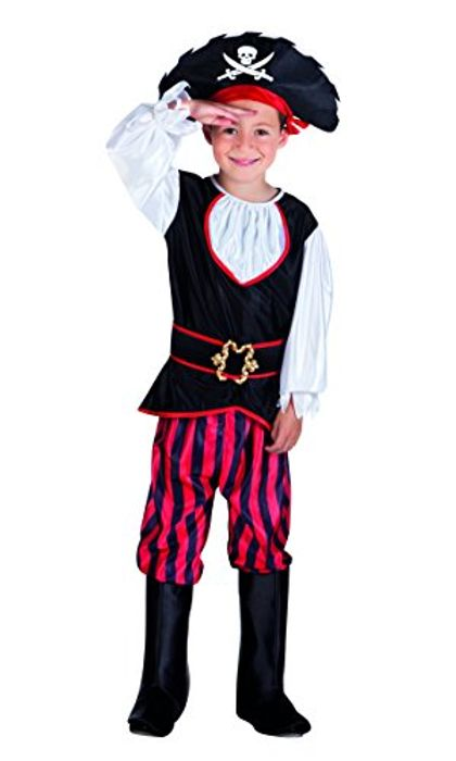 Pirate Boys Fancy Dress Captain Caribbean Buccaneer Book Day Kids Childs Costume