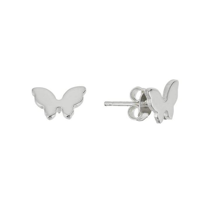 Best Price! Revere Sterling Silver Butterfly Stud Earrings